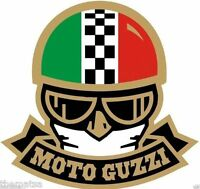 MOTO GUZZI MOTORCYCLE HARD HAT TOOL BOX HELMET BUMPER STICKER DECAL MADE IN USA