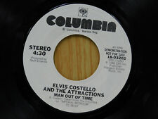 Elvis Costello dj 45 MAN OUT OF TIME / same song ~ Columbia M-
