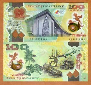 Papua New Guinea, 100 Kina, Polymer, 2018, P-New, UNC > Commemorative