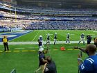2 Colts Vs Texans Tickets Sec 144, Row 2, Field Level Aisle Seats!
