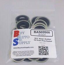 (25) M12 Metal Rubber Oil Drain Plug Gasket * Fits GM Chevrolet Dorman 097-021 *