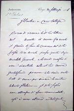 1886 LETTERA DELLO SCIENZIATO LUIGI FEDERICO MENABREA AMBASCIATORE IN FRANCIA