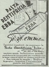 W7388 Pasta dentifricia ERBA Gi.vi.emme - Pubblicità del 1932 - Old advertising