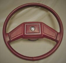 1990 1991 1992 90 91 92 CADILLAC FLEETWOOD STEERING WHEEL REDONE IN LEATHER T