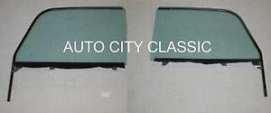 55-57 Chevrolet Nomad Pontiac Safari Green Tint Pair Left Right Door Glasses