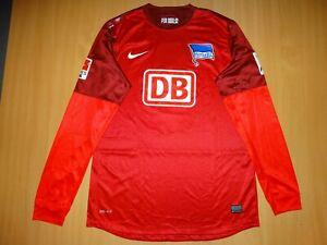 Hertha Berlin MATCH WORN #1 KRAFT 2012 2013 GOALKEEPER  Football Shirt NIKE LONG