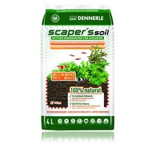 Dennerle Scaper's Soil Active Substrate for Shrimp and Plants 1-4mm 4L 8L Black