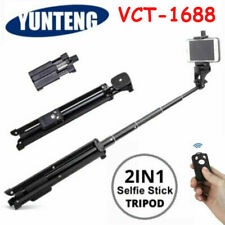 YUNTENG VCT-1688 2in1 Tripod Monopod Stand with Bluetooth Remote For Phone Black