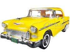 "1955 CHEVROLET BEL AIR CONV. YELLOW ""TIMELESS CLASSICS"" 1/18 MOTORMAX 73184 TC"
