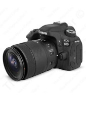 Canon EOS 80D 24.2 MP Digital SLR Camera - Black (with 3 lens) 50mm 1.8