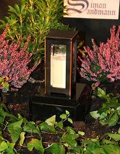 Grablampe   Grablaterne   Grabschmuck   Grab   Grablicht aus Bronze ->NEU<-