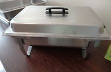 Full Size 8 Qt Stainless Steel  Folding Chafer Set with Chafing Dish & Frame Lid
