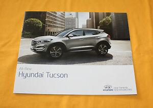 Hyundai Tucson 2015 Prospekt Brochure Catalog Depliant Prospetto Folder Prospect