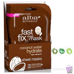 HYDRATING Face Mask Sheet moisturising Coconut Water natural fiber Alba Botanica