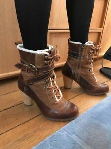 bottine timberland femme marron