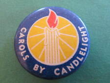 Carols by Candlelight Appeal Button Pinback Badge