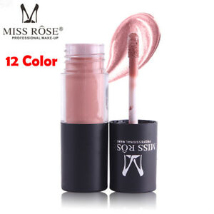 MISS ROSE Professional Lip Gloss Waterproof Long Lasting Moisturize Lipstick