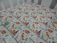 Cot Sheet Fitted Dream Big Little One Pure Cotton Fits to 79 x 130cm mattress