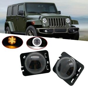 2x LED Seitenblinker Smoke Schwarz für Jeep Wrangler 3 III JK 2.8 CRD 3.8 07-17