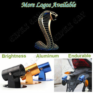 Shelby Cobra Logo Motorcycle Laser Projector Ghost Shadow CREE LED Light