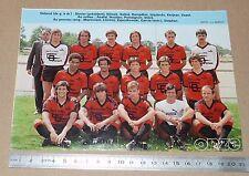 CLIPPING POSTER FOOTBALL 1980-1981 D2 STADE RENNAIS RENNES ROAZHON