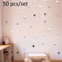 Acrylic Mirror 50Pcs/Set DIY Dot Wall Stickers Decals Home Living Room Decor