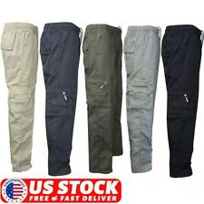 Mens Outdoor Work Tactical Pants Military Combat Cargo Slacks Pocket Trousers US