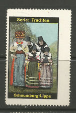 Traditional Costume poster stamp/label ( Schaumburg/Lippe)