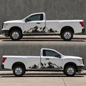 2pcs Mountain Range Scene Vinyl Decal Sticker Fit for Car Truck Side Door DIY