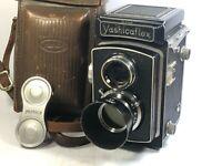 [CLA'd Optical N-Mint w/Case] Yashica Yashicaflex A TLR Camera 80mm f/3.5 JAPAN
