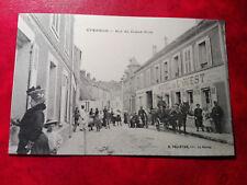 CPA animée - Epernon - Rue du Grand Pont - Hôtel de l'Ouest - 28 - Eure et Loir