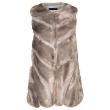 P43 Women Faux Fox Fur Vest Coat Fashion Warm Waistcoat Jacket Sleeveless Shrug