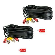 2 Units of 100 Ft BNC Video DC Power Siamese Cables for CCTV Surveillance System