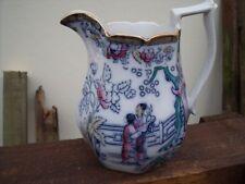 Antique Adams Jug 'Chinese Ching' Oriental pattern  c1900  ~ 1.75pt