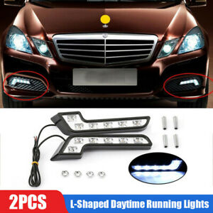 2X L Shaped 6LED Super White 12V Waterproof Driving Fog Light Lamp Car Accessory