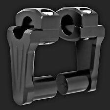 "Rox Black Risers 2"" riser for 1"" handlebars fits Harley Davidson etc 4R-P2CC01"