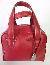 Lisa Wilson Australia Accessories Red Leather Handbag 2009 Near New Condition