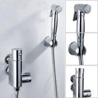 Douche Kit bidet WC thermostatique valve en laiton chrome shower musulman spray