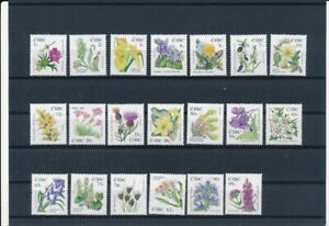 D121277 Ireland Flowers Nice selection of MNH stamps