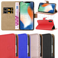 CASE FOR IPHONE 10 X XS REAL GENUINE LEATHER SHOCKPROOF HEAVY DUTY WALLET FLIP