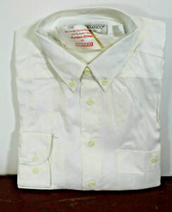 90er XXL Shirt Retro Vintage Casual Men's White Gr.45 New Boxed