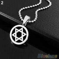 EG_ Unisex Stainless Steel Pendant Jewish Star of David Necklace Jewelry Gift
