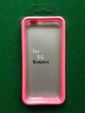 COVER custodia case x iPHONE 5 5s ROSA PINK in GOMMA BUMPERS