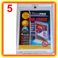 5 Ultra Pro ONE TOUCH MAGNETIC 100pt UV Card Holder Display Case 81911-UV 100