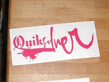 """QUICKSILVER 7"""" Pink VINYL STICKER DECAL SNOWBOARD SURF SKI  WAKEBOARD surfing"""