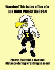 Iowa Hawkeye Wrestling Poster Art Die Hard Fan Dan Gable Asics Shoes PTRAC110