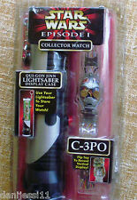 Star Wars Episode 1 Collector Watch an LightSaber Display Case C-3PO, 1999