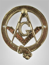 BEAUTIFUL ANTIQUE BRASS  MASONIC PLAQUE