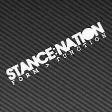 """STANCE NATION DECAL 8""""x1.3"""" VINYL STICKER HELLA FLUSH STANCED"""
