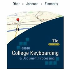 Gregg College Keyboarding and Document Processing Kit 3 Lessons 1-120 Ober 11th